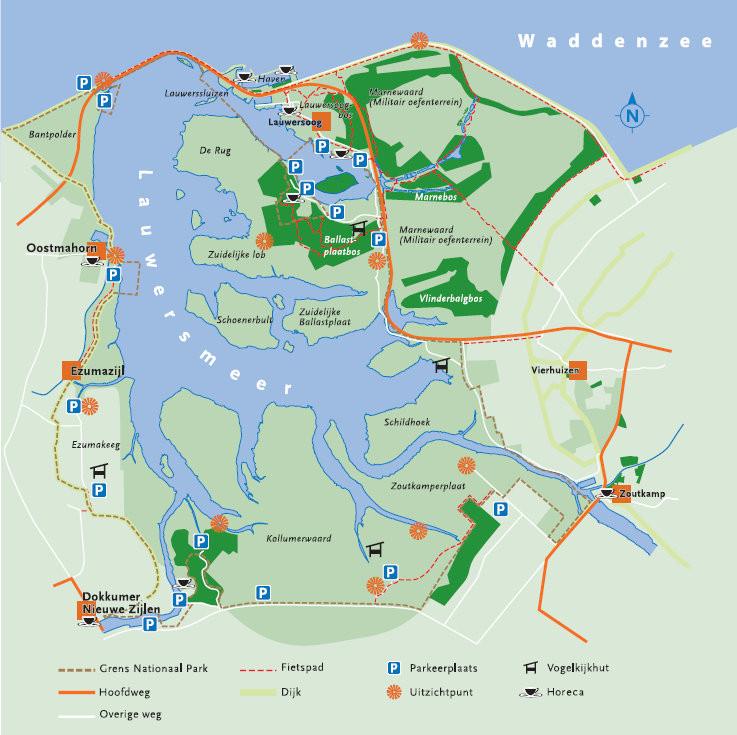 Fahrt rund um das Lauwersmeer Friesland Groningen Niederlande