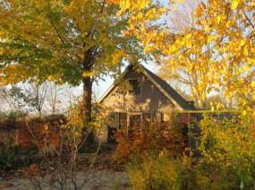 mooi vakantiehuisje Lauwersmeer in de herfst