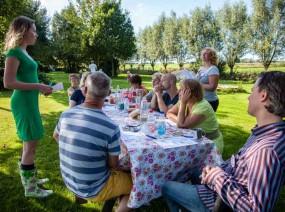 mooie vergaderlocatie tussen de bomen Friesland