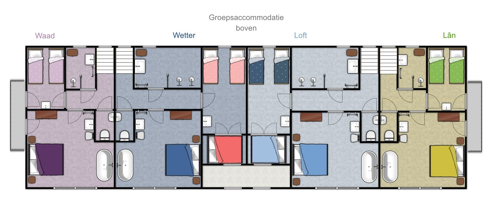 Groundplan Design Groupaccommodation Friesland Netherlands