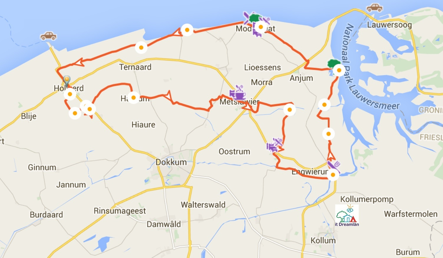 Waddentour through Ee, Holwerd, Metslawier, Paesens en Moddergat in North-East Friesland Netherlands