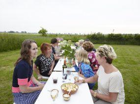 Mittagessen außerhalb Friesland Niederlande