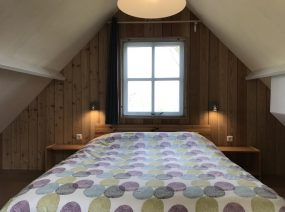 master bedroom 2 persons holiday home Friesland Lauwersmeer Netherlands