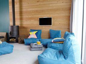 inspirierende Relaxraum mit Feuer Kollum Dokum Friesland Niederlande