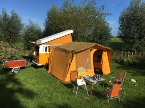 camp near the playground family camping Friesland Netherlands