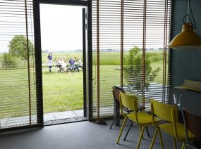nice groupaccommodation with dining in the fields Friesland Netherlands
