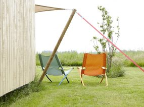 lounge chairs outside Friesland Netherlands