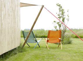 lounge chairs outside Friesland Netherlands
