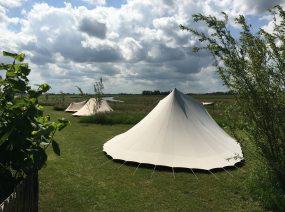 fantastische Aussicht camping Friesland Niederlande