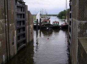 sluisje Ezumazijl Lauwersmeer Friesland
