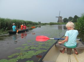 canoeing to Kollum from the campsite Friesland Netherlands