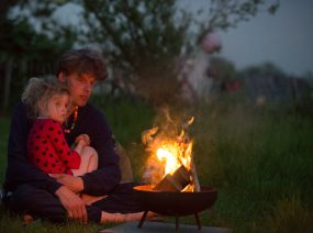 by the campfire nature camping Lauwersmeer Friesland Netherlands