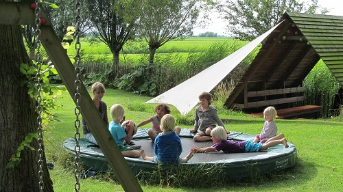 Trampoline holiday home Friesland Netherlands
