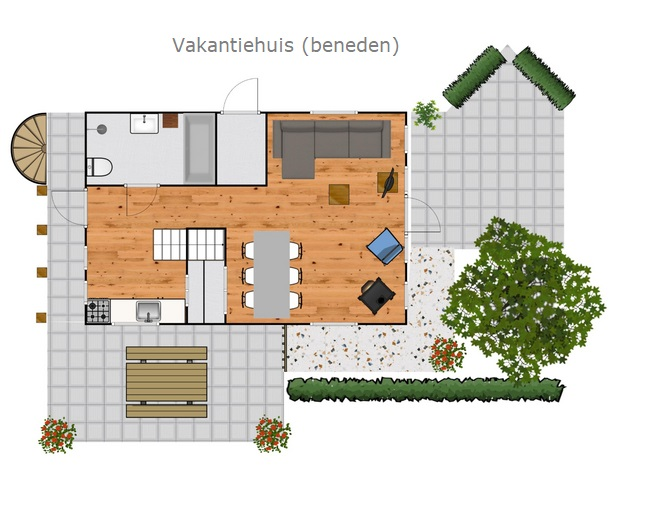 Groundplan Holiday home Friesland
