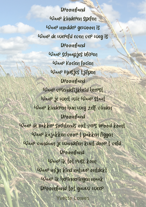 Gedicht Yvette Lowes Story Station Camping Friesland